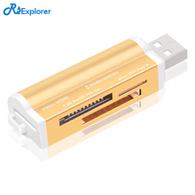 RSExplorer High Quality USB 2.0 All in 1 Multi Memory Card Reader for T-Flash MMC TF M2 Memory Stick(China)