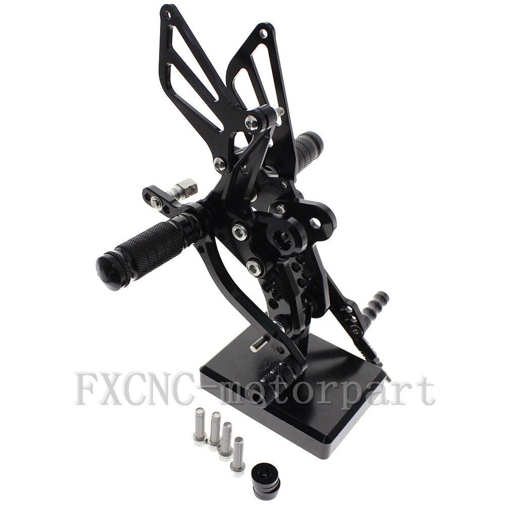 FXCNC Motorcycle Black CNC Rearsets Foot Pegs Rear Set For Suzuki GSXR1300 Hayabusa 1999-2012 2000 2001 2002 2003 2004 2005 2006<br><br>Aliexpress