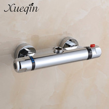 Brass Chrome Wall Mounted Bathroom Thermostatic Faucet Thermostatic Bathroom Shower Faucet bathtub faucet