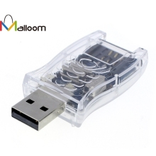 Malloom USB 2.0 Flash Card Reader Hot Sale Super Speed SIM Card Reader Writer Cloner Edit Copy Backup GSM CDMA USB#25