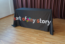6' Full Side logo Table Throw / 4 Side  Transfer Print Advertising TableCloth show / Free shipping