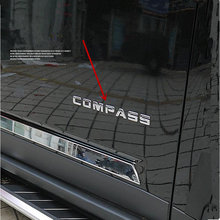 New 3D Car styling Door Side Whole Body Front Tail for Compass Sticker Patriot Badge For Jeep Emblem ABS Chrome Silver