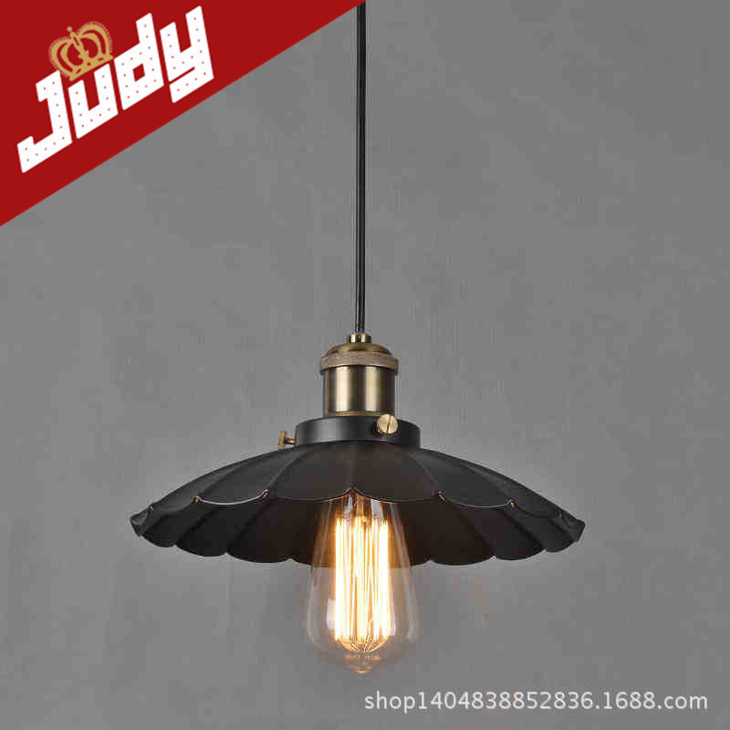 the lotus shape E27 Painted Iron Retro vintage pendant light Countryside Antique lamp Pendant lamp<br><br>Aliexpress