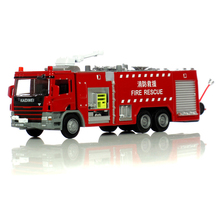 Collection Engineering Vehicles Alloy Car Series 1:50 Water Tanker Fire Rescue Spray Water Rescue Model Toys Car For Boy Gifts(China)