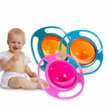 Practical 360 rotate design baby tableware spill-proof kids dishes bowl food container kids dinner plate for learning eatting