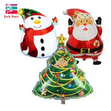 3pcs/lot cartoon Christmas tree foil balloons Santa Claus helium balloon merry Christmas decoration inflatable classic toys