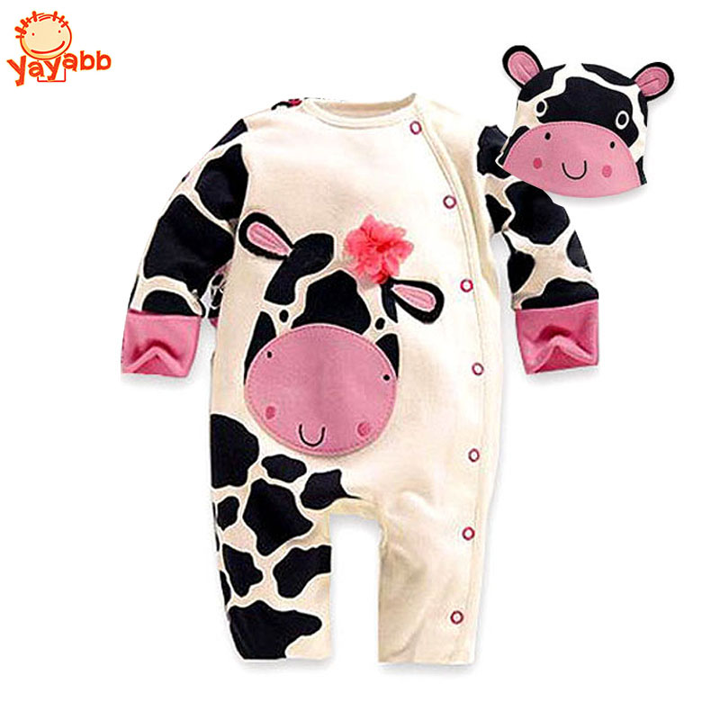High Quality 3 Pcs/Set (2Rompers+Hat) Autumn Winter Baby Clothing Set Infant Baby Suit Baby Boy And Baby Girl Rompers Jumpsuit<br><br>Aliexpress