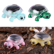 Mini Solar Powered Energy Cute Turtle Tortoise Gadget Gift Educational Novelty Toy For Kids Solar Powered Turtle Animal Model