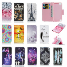Wallet Case Cover For Apple iPod Touch 5 6 iTouch Leather Soft Silicone Fashion Tower Mobile Phone Bag Coque Etui Capinha Cases(China)