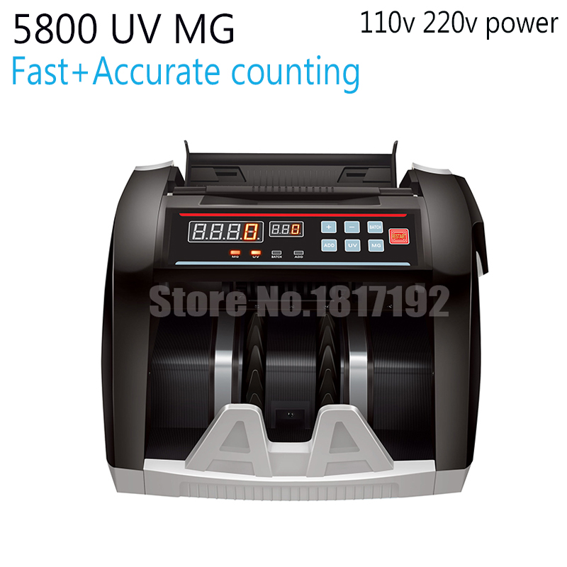 Cash Counter,currency count machine,money-counting machine,cash-counting machine, bill counter,MONEY COUNTER 5800 UV MG,EU US<br><br>Aliexpress