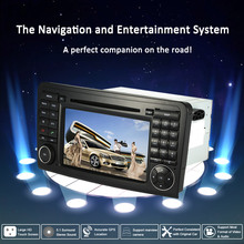 "7"" Car Radio Double 2 Din Car DVD Player GPS Navigation in Dash Car PC Stereo Head Unit for Mercedes-Benz ML Class W164/GL X164(China)"