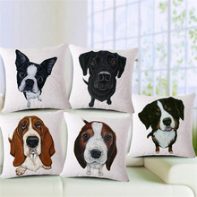 Wholesale 100% New European Style Adorable French Bulldog Dog Series Throw Pillow coat Cushion For Home Decor(China)