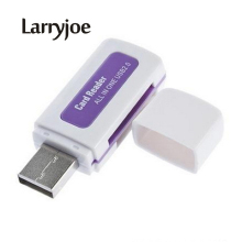Larryjoe Hot Selling USB 2.0 4 in 1 Memory Card Reader for M2 SD MS TF Card Adaptor Random Color