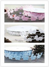 1-1/2 width (Approx 40mm) Blue pink Stroller Ribbon Lace Trim Accessories 2yards/lot 040051022(China)