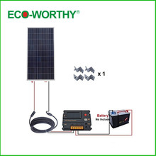 ECO-WORTHY USA UK Stock160W 12V off Grid Solar Kit w/ 20A Temperature Regulator for Yacht Caravan Home(China)