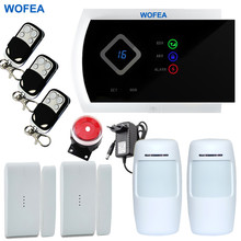 Wofea Smarts GSM Alarm Systems Android IOS APP Alarms Home Security System free shipping(China)
