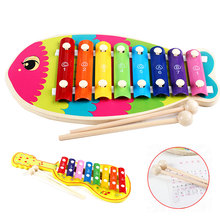 Educational Early Learning Colorful Knock On Piano Baby Kids Wooden Toddler Learning Education Musical Toy