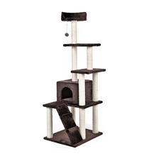 New Style Domestic Delivery H157 Cat Climbing Tree Cat Fun Scratching Solid Wood for Cats Climb Frame Kitten Furniture