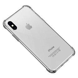 Прозрачный силиконовый ударопрочный бампер Crispyfish для iPhone X, XS, XR, XS Max, 8, 7, 6, 6S Plus