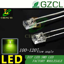 1000pcs free shipping Green 234 square package 3mm light emitting diode 568-575nm 2.0-2.5V DIP 2x3x4  LED