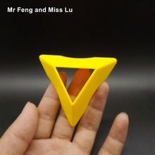 Yellow Compact Plastic Magic Cube Base Holder Tower Style(China)