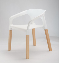 Free Shipping PP seat beech legs dining chair