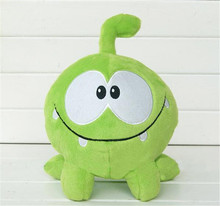 "2017 New green frog kawaii 7"" 20cm om nom frog plush stuffed toys cut the rope soft rubber cut the rope figure toy gift for kids(China)"
