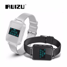 Original RUIZU K18 Digital Voice Recorder Hifi Music Bluetooth 4.0 Leather Strap Smart Watch 18GB MP3 Player with High Quality(China)