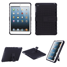 Shockproof Antiskid Anti Dusty Black Kick-Stand Heavy multicolor Case for IPad Mini Free Screen Protector + Cloth + Stylus(China)