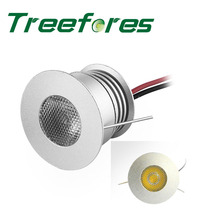 Treefores 3W 12V DC CREE XBD Mini Led Spot Downlight With Dimmable Transformer 30mm 80Ra 240Lm Cabinet Stair light Lighting(China)