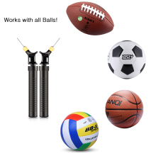 New Creative Soccer Ball Inflator Pump Ultimate Quicker Pump for Basketball Football Pump Volleyball - Black(China)