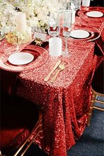 Rectangle Sequin Tablecloth 120x200cm Red/Champagne/Rose Gold Sparkly Wedding Sequin Tablecloth The most popular in 2017