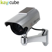 Fake Camera Solar Powered Indoor Outoodr Dummy Security Camera Bullet Cctv Camera Surveillance  Camaras Blinking IR LED