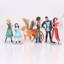 5sets  Elena of Avalor PVC Action Figures 6pcs/set Elena Princess Dolls PVC ACGN figure model Garage Toys Brinquedos