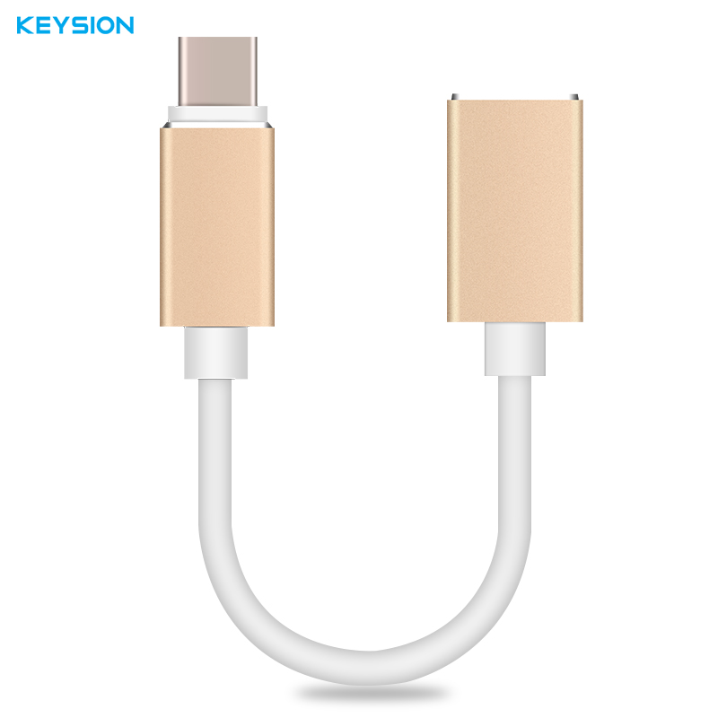 KEYSION Metal Type-C USB 3.1 To USB 3.0 OTG Adapter Type C Data Cable Connector For Macbook For Samsung S8 For Xiaomi Mi6(China)