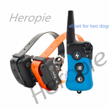 Heropie 300m Remote Training Collar Electric Dog Training Collar Large Dog Training Collars Bark Dog Collar for Two Dogs(China)