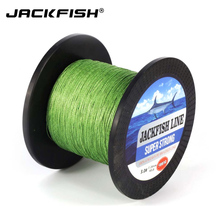 JACKFISH 500M 4 strand PE Braided Fishing Line 10-80LB Super Strong PE Fishing Line black Wire coil  Carp Fishing Saltwater