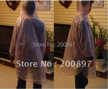 Promotion Disposable rain poncho PE raincoat wholesale 20pcs/lot(China)