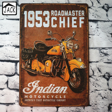 Indian Motorcycle  20x30cm Retro Tin Poster Metal Tin Signs Vintage Plaque Paintings Advertising Shop Bar Garage Wall Decor