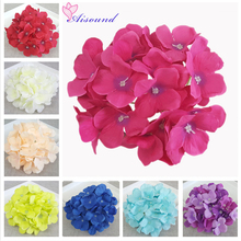 20pcs 15cm Hydrangea Flower Head Artificial Silk Flowers For a Wedding Decoration DIY Wall Flower Handmade Floral Crafts Flories(China)