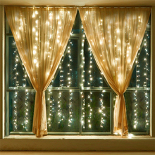 3m * 1.5m Fairy Lights Icicles LED Curtain Lights Garland Christmas String Lights Decoration Outdoor new year holiday lighting