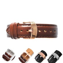 new product watches bracelet black brown watchbands genuine leather strap watch band 18mm 20mm watch accessories For all watch(China)