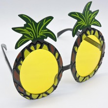 Hot Hawaiian Beach Pineapple Sunglasses Hawaii Party Fruit Glasses Dancing Supplies Hen Night Stag Party Fancy Dress 9z(China)