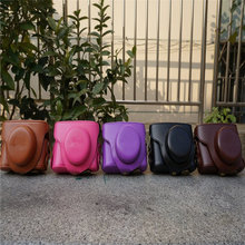5 Colors Black/Brown/Pink/Purple/Coffe Camera Case Bag Leather Case Cover for Digital Camera Leica D-LUX6 Free Shipping
