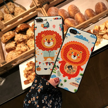 SZ HOME Phone Cases for IPhone 6 6s 7 Plus Cover Case Luxurious Cartoon VOGUE Embossment for IPhone 7 Plus Original Phone Case(China)