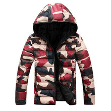 2016 brand men's clothing winter jacket with hoodies outwear Warm Coat Male Solid winter coat Men casual Warm Down Jacket