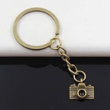 99Cents Keychain 15*14mm camera Pendants DIY Men Jewelry Car Key Chain Ring Holder Souvenir For Gift