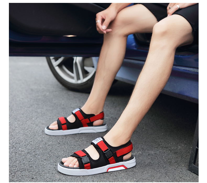 YRRFUOT Summer Big Size Fashion Men's Sandals Outdoor Hot Sale Trend Man Beach Shoes High Quality Non-slip Adult Flats Shoes 46 29 Online shopping Bangladesh
