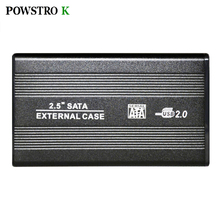 2.5 Inch HDD External Enclosure Case Metal External Storage Box for Sata to USB 2.0 Hard Drive Disk with USB Cable