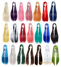 Anime Cosplay Wig Oblique Bangs Long Straight Wigs 100cm 40 inch Costume party hair wig (NWG0CP60917)